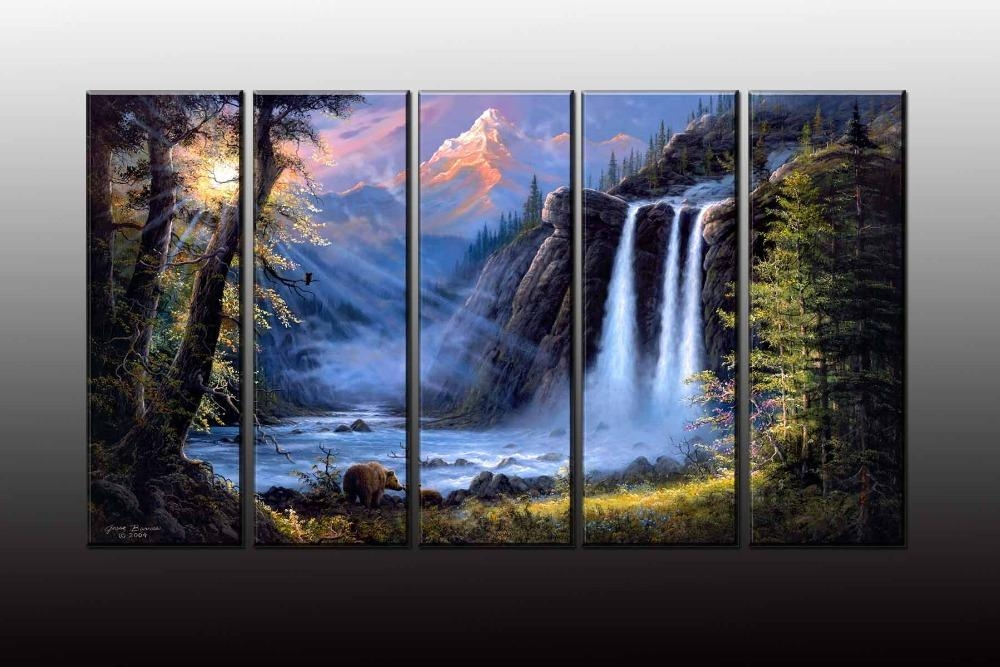 Online Buy Wholesale Forest Waterfall From China Forest Waterfall Inside Waterfall Wall Art (Image 10 of 20)