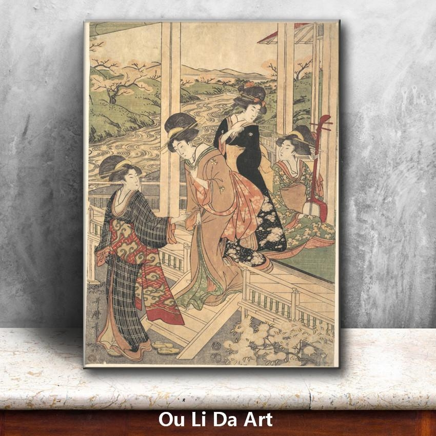 Online Buy Wholesale Geisha Art Print From China Geisha Art Print For Geisha Canvas Wall Art (Image 15 of 20)