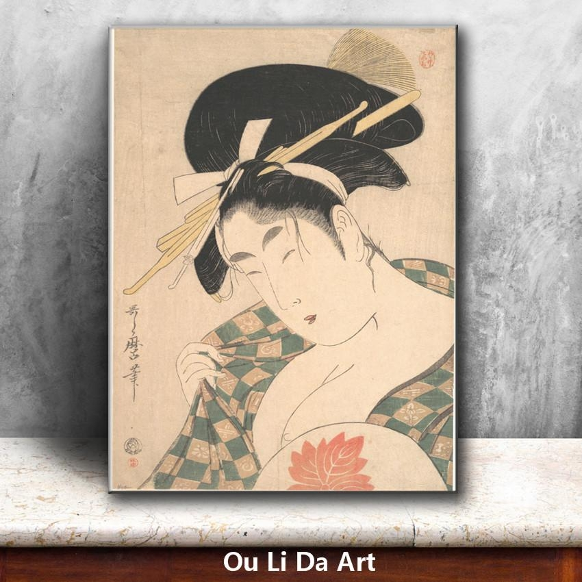 Online Buy Wholesale Geisha Art Prints From China Geisha Art Inside Geisha Canvas Wall Art (Image 16 of 20)