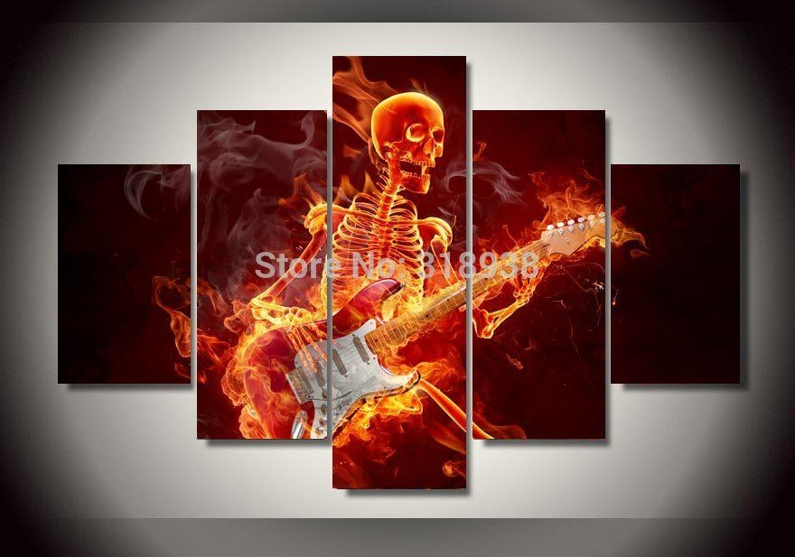 Online Buy Wholesale Guitar Wall Art From China Guitar Wall Art Pertaining To Guitar Canvas Wall Art (View 18 of 20)