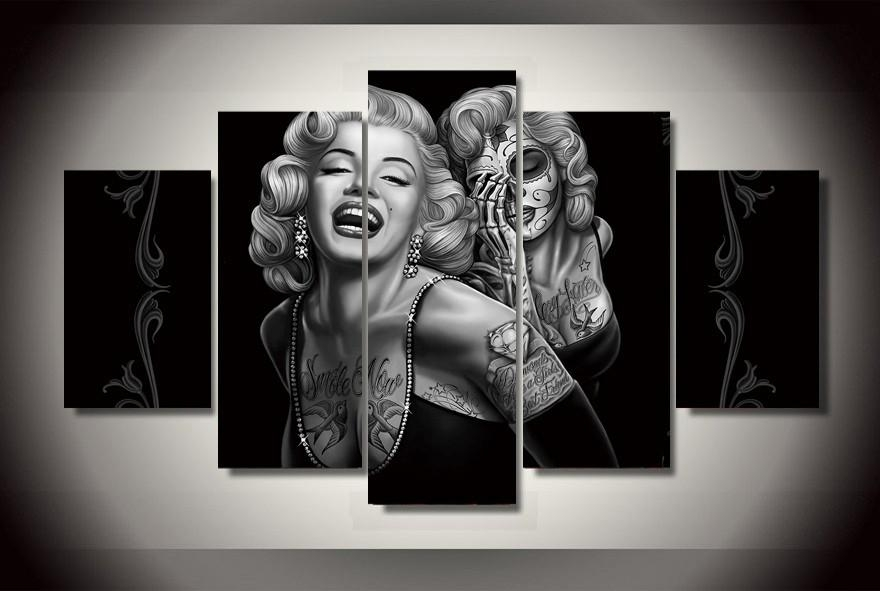 Online Buy Wholesale Marilyn Monroe Art Canvas From China Marilyn Within Marilyn Monroe Framed Wall Art (View 5 of 20)