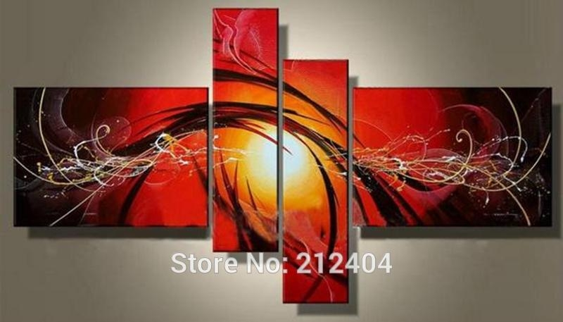 Online Buy Wholesale Multi Panel Canvas Wall Art Large From China Throughout Multiple Panel Wall Art (Image 11 of 20)