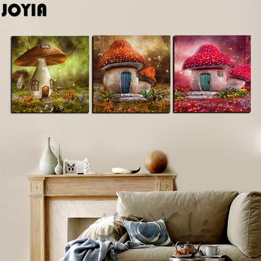 Online Buy Wholesale Mushroom Wall Art From China Mushroom Wall Pertaining To Mushroom Wall Art (Image 14 of 20)