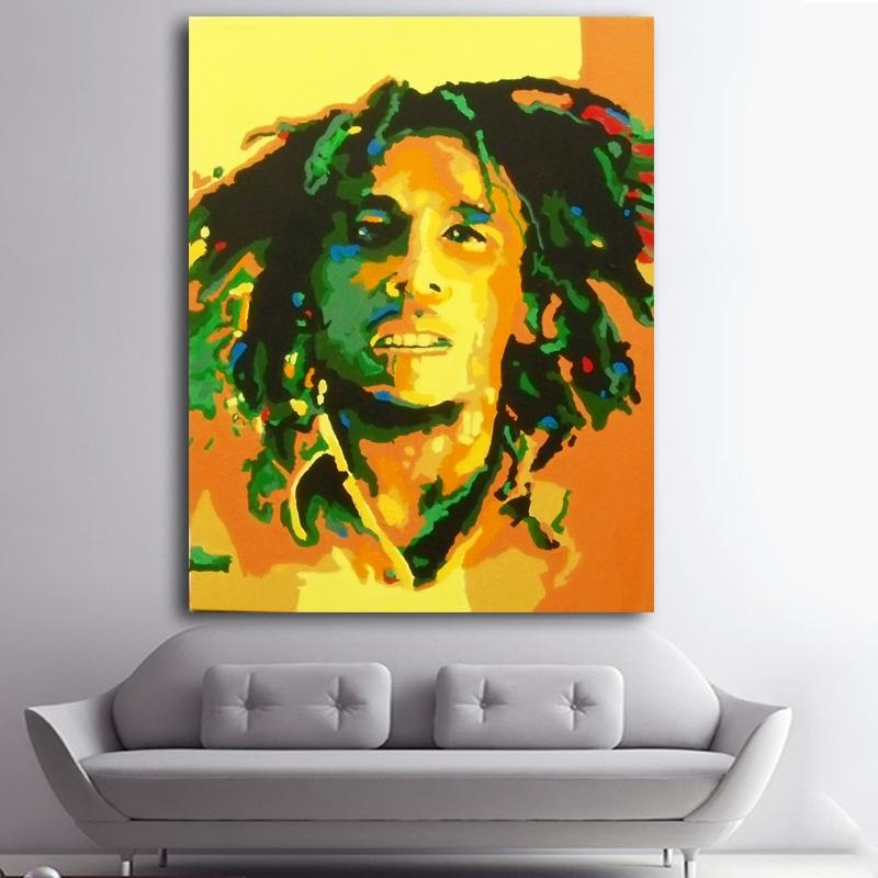 Online Buy Wholesale Paintings Bob Marley From China Paintings Bob In Bob Marley Canvas Wall Art (View 17 of 20)