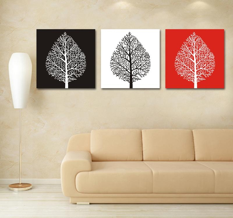 Online Buy Wholesale Trees Canvas Painting 3 Piece From China Regarding 3 Piece Modern Wall Art (Image 15 of 20)