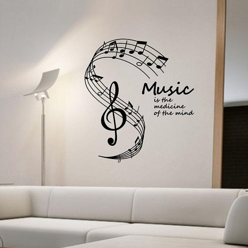 Online Buy Wholesale Wall Decor Music Notes From China Wall Decor Intended For Music Note Wall Art (View 4 of 20)