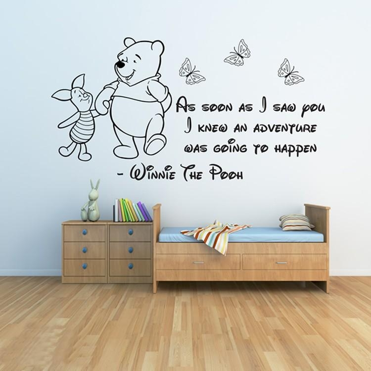 Online Buy Wholesale Winnie Girl From China Winnie Girl For Winnie The Pooh Nursery Quotes Wall Art (Image 14 of 20)