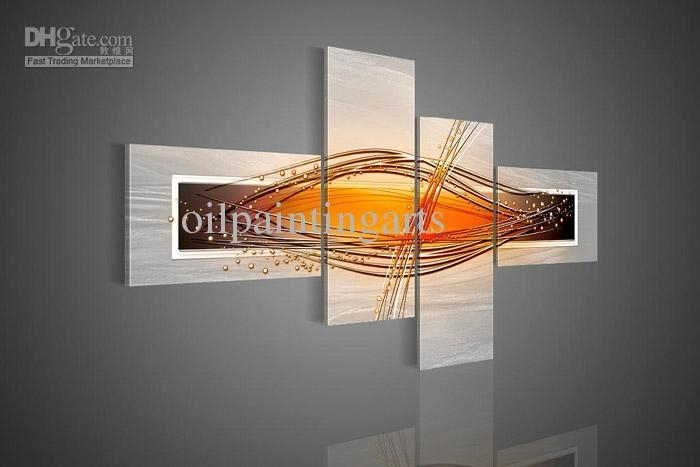 Online Cheap Wall Art Modern Abstract Picture Wishes Oil Painting Intended For 4 Piece Wall Art (Image 16 of 20)