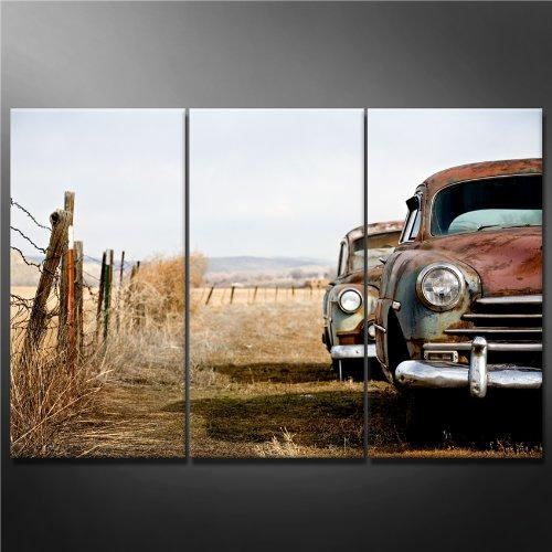 Online Get Cheap 3 Piece Wall Art Painting Car Aliexpress With Regard To Classic Car Wall Art (Image 12 of 20)