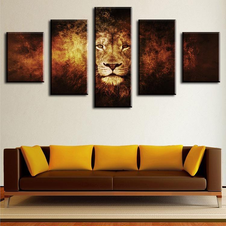Online Get Cheap 5 Piece Canvas Art Set Modern  Aliexpress With Regard To Cheap Wall Art Canvas Sets (Image 11 of 20)