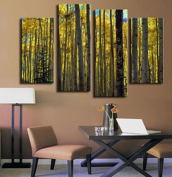Online Get Cheap Aspen Tree Art Aliexpress | Alibaba Group With Aspen Tree Wall Art (View 5 of 20)