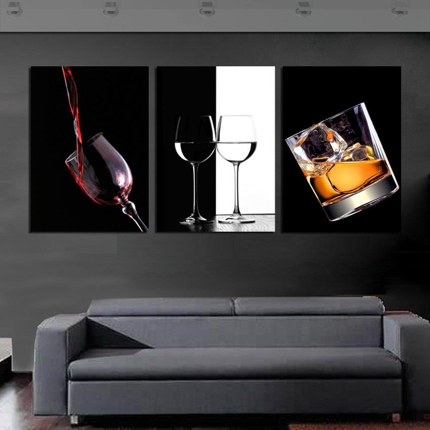 Online Get Cheap Black And White Wine Art Aliexpress With Regard To Black Love Wall Art (View 5 of 20)