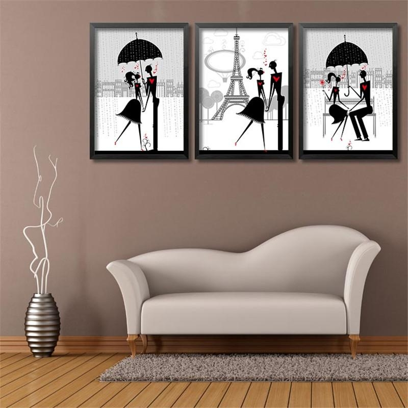Online Get Cheap Black Couple Art Aliexpress | Alibaba Group Inside Black Love Wall Art (View 7 of 20)