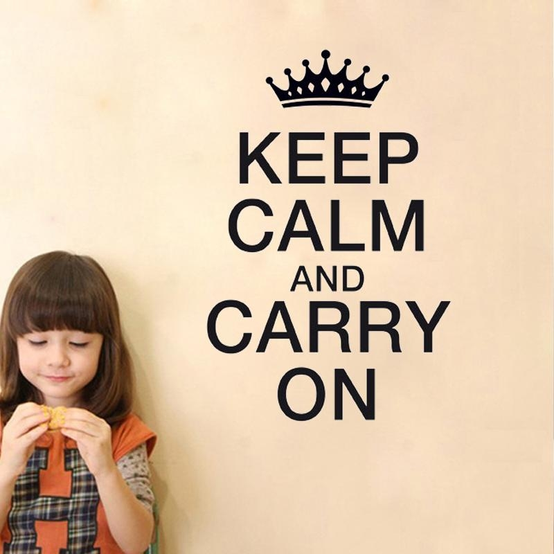 Online Get Cheap Calming Wallpaper  Aliexpress | Alibaba Group Within Keep Calm And Carry On Wall Art (Image 18 of 20)