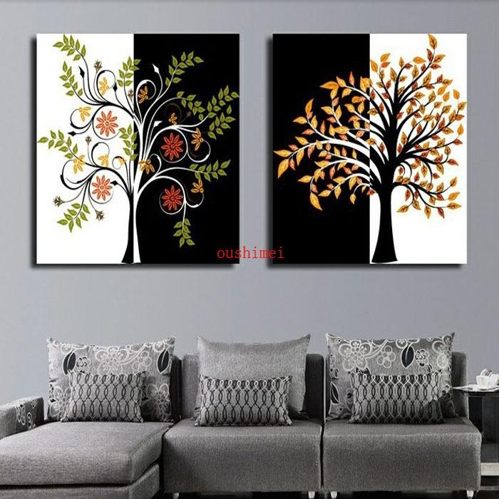 Online Get Cheap Cheap Yes Abstract Tree Painting  Aliexpress In Cheap Wall Art And Decor (Image 19 of 20)