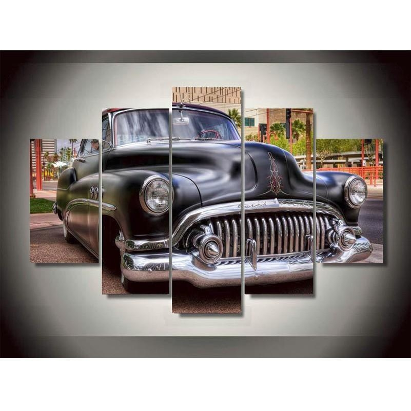 Online Get Cheap Classic Car Art Painting Aliexpress For Classic Car Wall Art (Image 14 of 20)