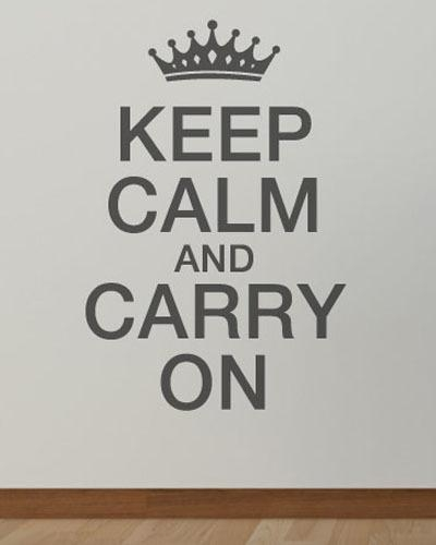 Online Get Cheap Crown Wall Decals  Aliexpress | Alibaba Group Regarding Keep Calm And Carry On Wall Art (Image 19 of 20)