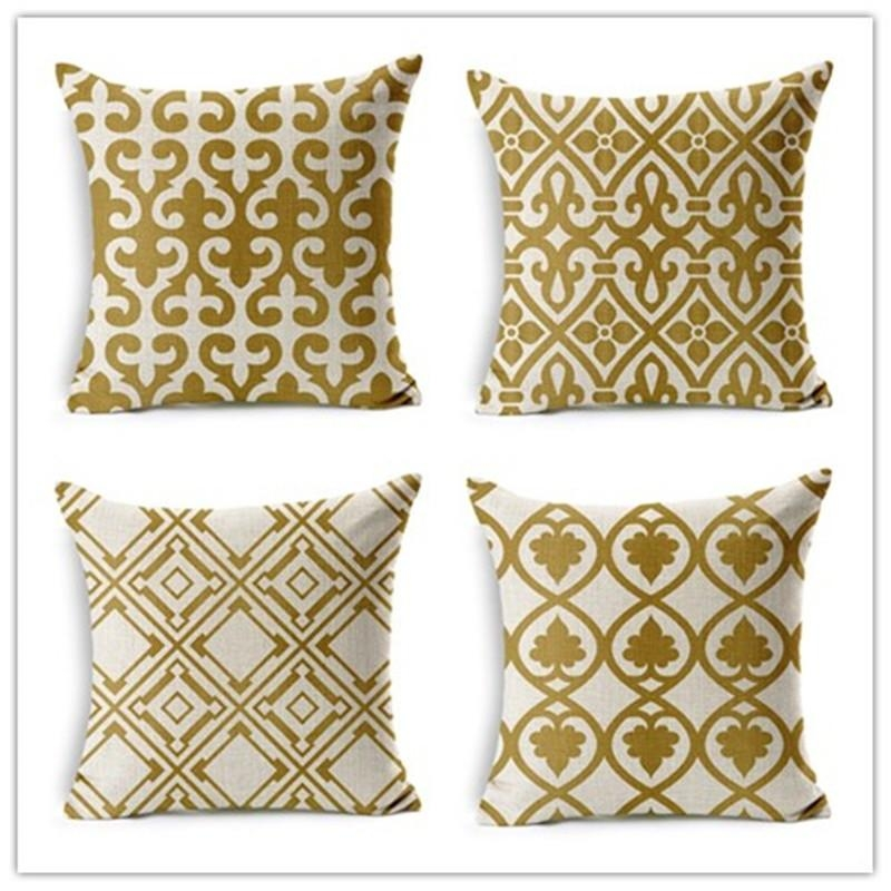 Online Get Cheap Gold Throw Pillows  Aliexpress | Alibaba Group For Gold Sofa Pillows (Image 14 of 20)
