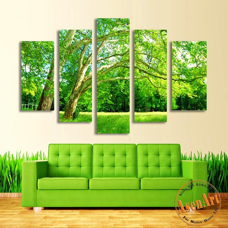 Online Get Cheap Green Wall Prints  Aliexpress | Alibaba Group In Green Canvas Wall Art (Image 17 of 20)