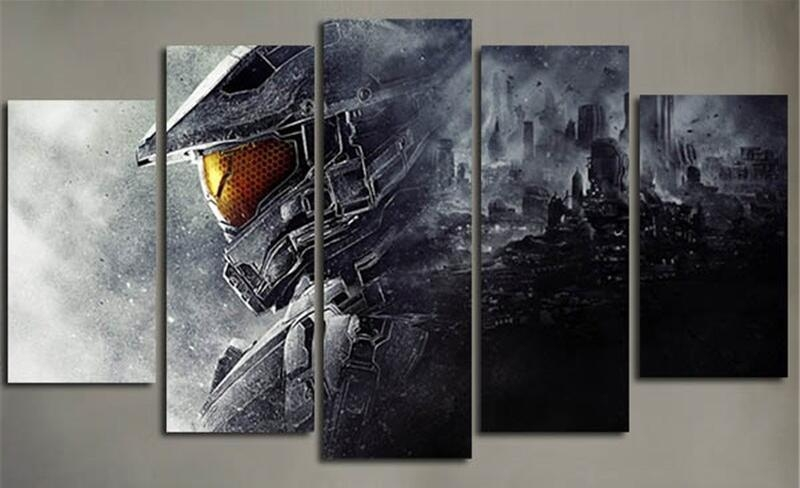 Online Get Cheap Halo Game Wall Art  Aliexpress | Alibaba Group Pertaining To Video Game Wall Art (Image 10 of 20)
