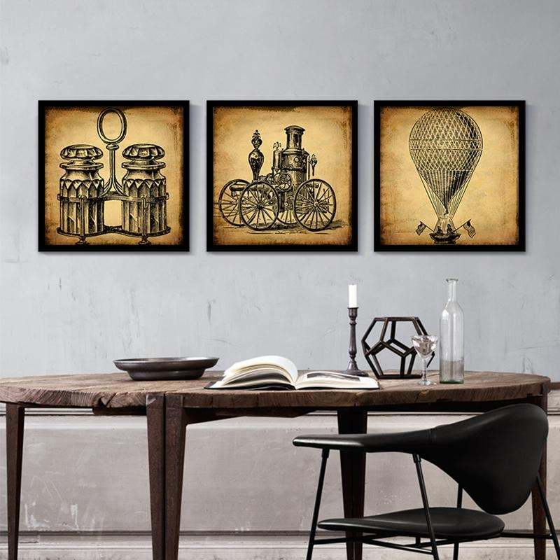 Online Get Cheap Industrial Art Painting  Aliexpress | Alibaba Regarding Vintage Industrial Wall Art (Image 9 of 20)