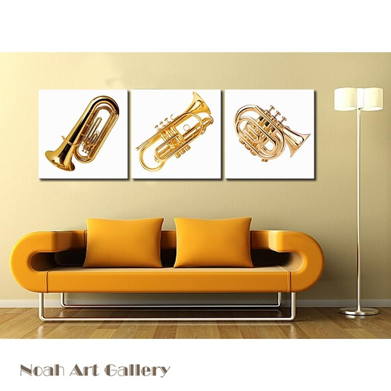 Top 20 Musical Instrument Wall Art | Wall Art Ideas