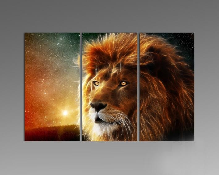 Online Get Cheap Lion Art Aliexpress Alibaba Group For Lion Wall Within Lion Wall Art (Image 14 of 20)