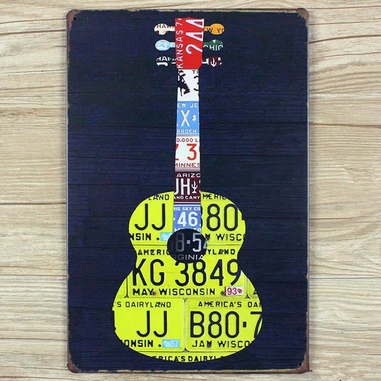 Online Get Cheap Metal Art Guitar  Aliexpress | Alibaba Group Pertaining To Guitar Metal Wall Art (Image 14 of 20)