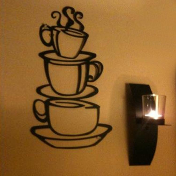 Online Get Cheap Metal Coffee Cup Wall Decor Aliexpress Within Coffee Theme Metal Wall Art (View 7 of 20)