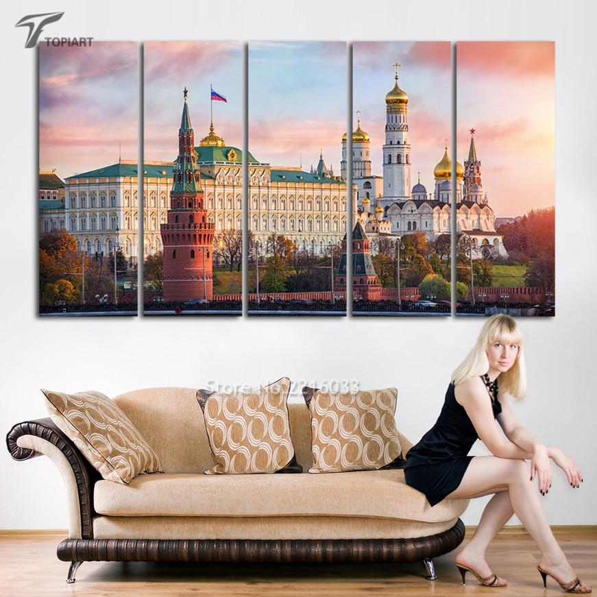 Online Get Cheap Multi Panel Art  Aliexpress | Alibaba Group In Cityscape Canvas Wall Art (Image 13 of 20)