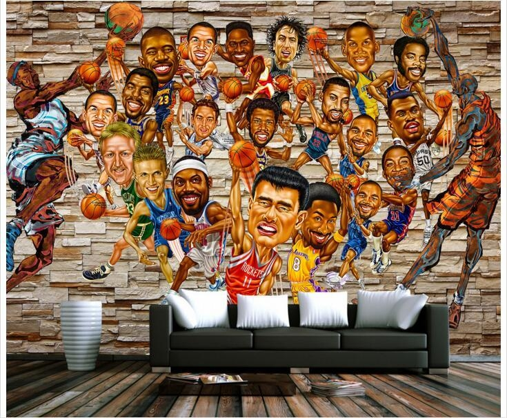 Online Get Cheap Nba Photos Aliexpress | Alibaba Group For Nba Wall Murals (View 8 of 20)