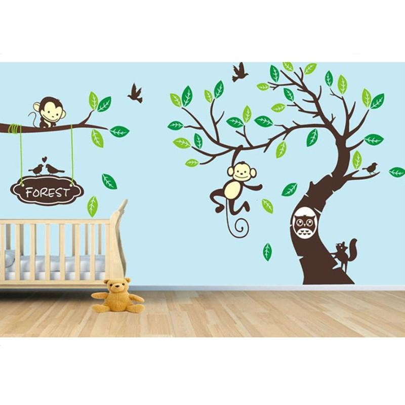 Online Get Cheap Owl Tree Birds Wall Art Stickers Aliexpress Pertaining To Owl Wall Art Stickers (View 19 of 20)