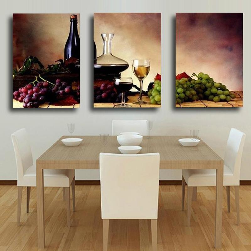 Online Get Cheap Paintings Grapes  Aliexpress | Alibaba Group Regarding Grape Wall Art (Image 16 of 20)