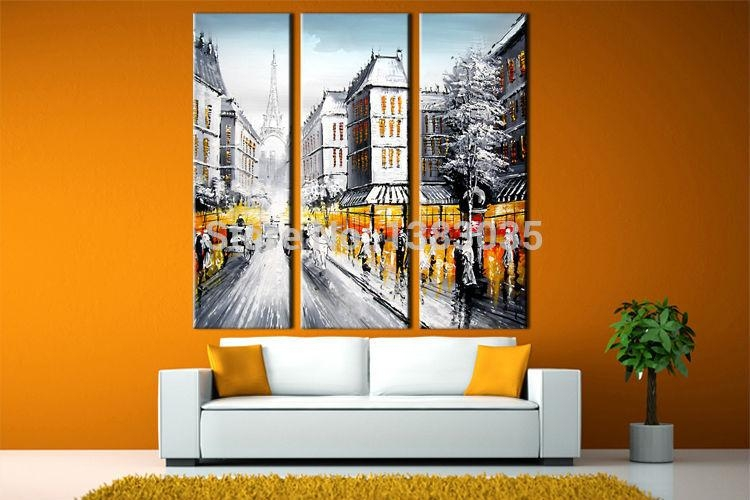 Online Get Cheap Paris Street Scene Aliexpress | Alibaba Group Pertaining To Street Scene Wall Art (View 15 of 20)