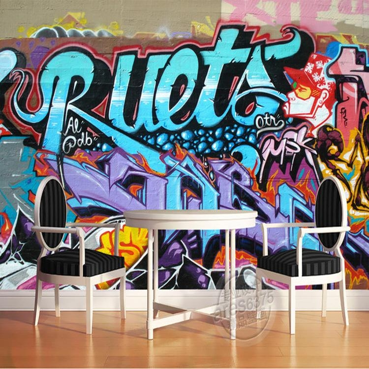 Online Get Cheap Personalized Graffiti Wall Art  Aliexpress Within Personalized Graffiti Wall Art (Image 12 of 20)