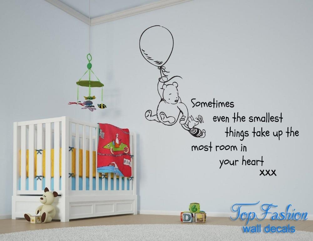 Online Get Cheap Pooh Wall Quotes  Aliexpress | Alibaba Group Intended For Winnie The Pooh Vinyl Wall Art (Image 15 of 20)