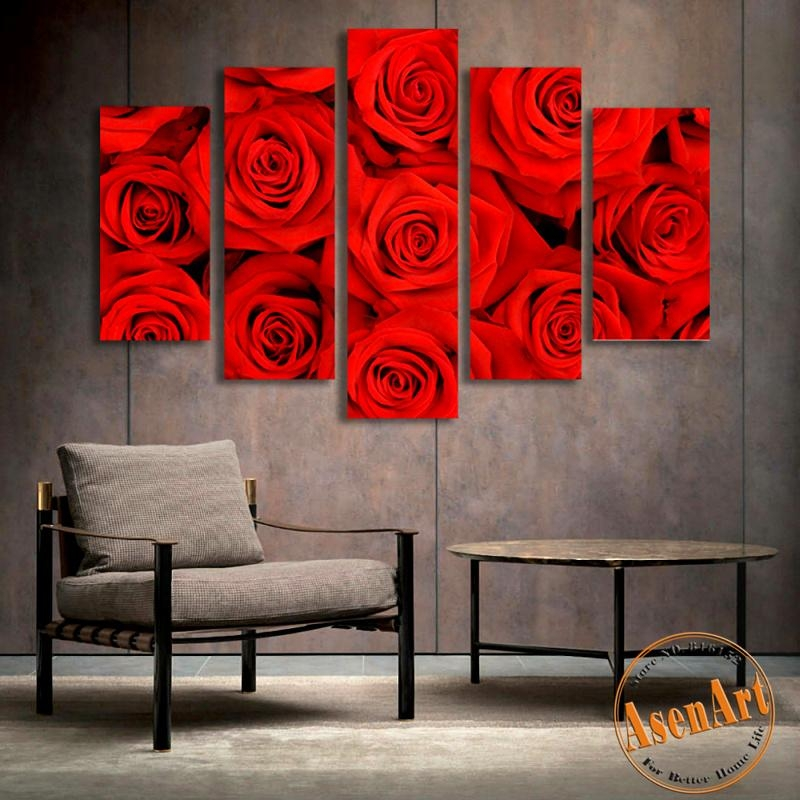 Online Get Cheap Red Rose Wall Art  Aliexpress | Alibaba Group Intended For Red Rose Wall Art (Image 11 of 20)