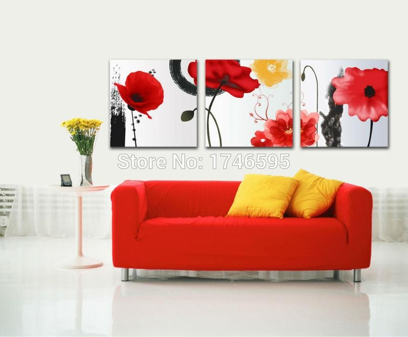 Online Get Cheap Red Wall Decor  Aliexpress | Alibaba Group Throughout Red And Yellow Wall Art (Image 12 of 20)
