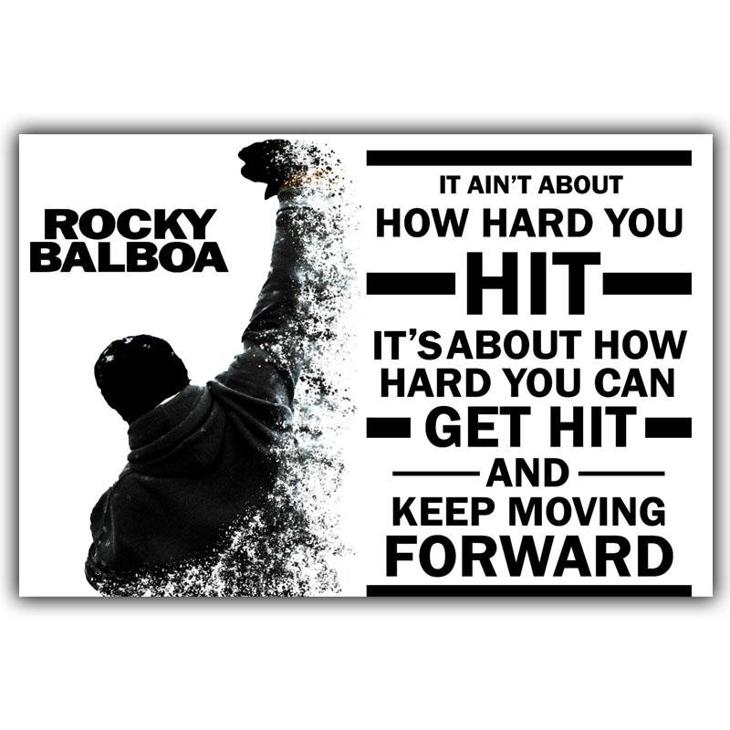 Online Get Cheap Rocky Balboa Poster  Aliexpress | Alibaba Group With Regard To Rocky Balboa Wall Art (Image 13 of 20)