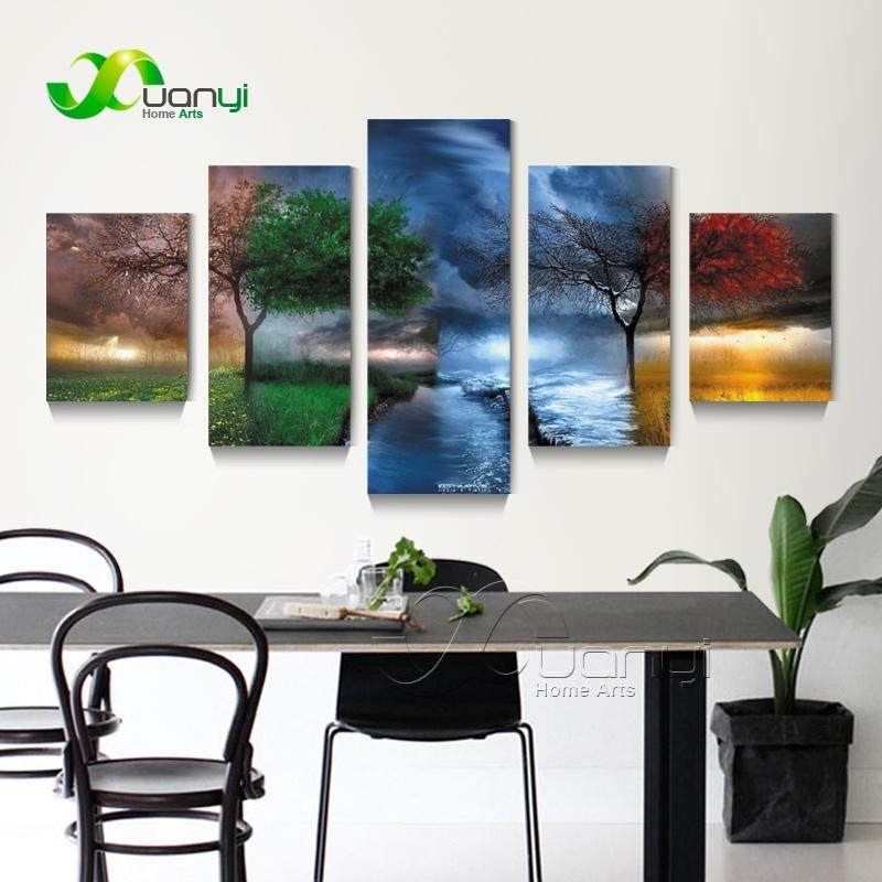 Online Get Cheap Seasonal Tree Painting Aliexpress | Alibaba Inside Seasonal Wall Art (View 10 of 20)