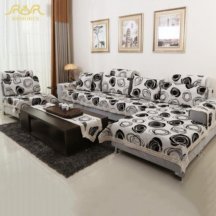 Online Get Cheap Sofa Cover Black White Aliexpress | Alibaba Pertaining To Sofas With Black Cover (View 5 of 20)