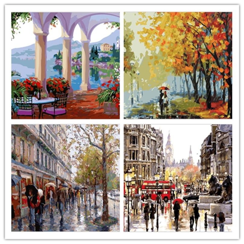 Online Get Cheap Street Scene Wall Art Aliexpress | Alibaba Group Intended For Street Scene Wall Art (View 12 of 20)