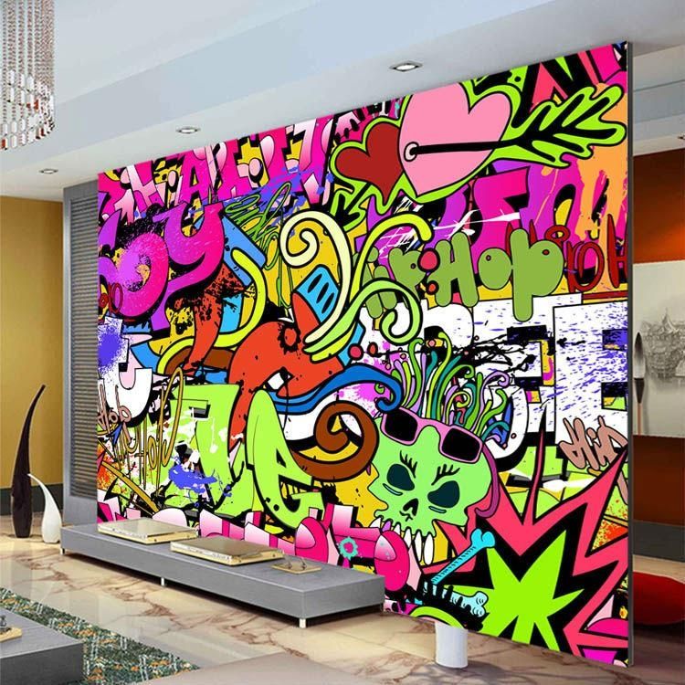 Online Get Cheap Urban Graffiti Wall Mural  Aliexpress In Personalized Graffiti Wall Art (Image 13 of 20)