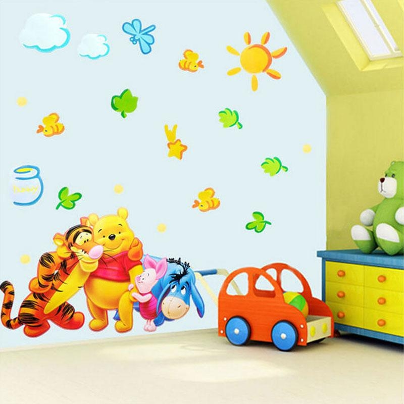 Online Get Cheap Wallpaper Pooh  Aliexpress | Alibaba Group With Regard To Winnie The Pooh Vinyl Wall Art (Image 16 of 20)