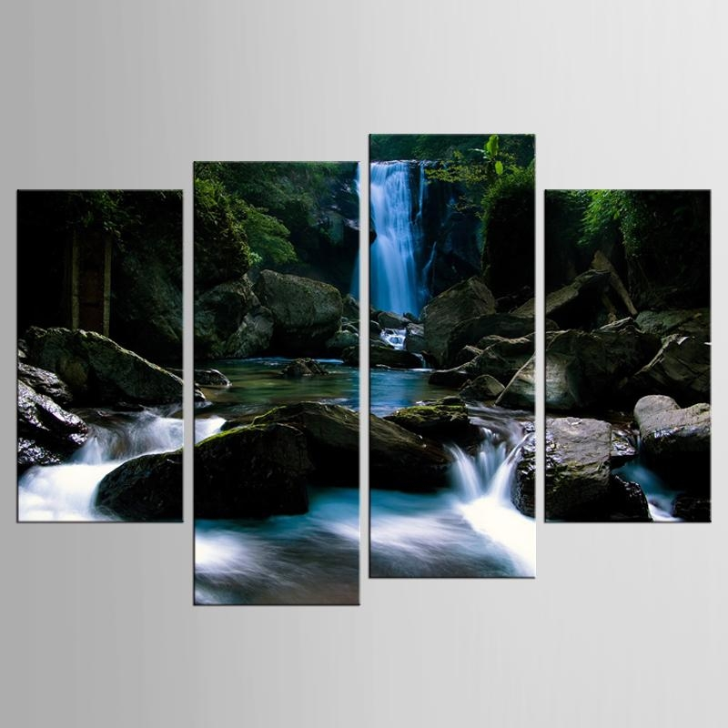 Online Get Cheap Waterfalls Art  Aliexpress | Alibaba Group Pertaining To Waterfall Wall Art (Image 12 of 20)