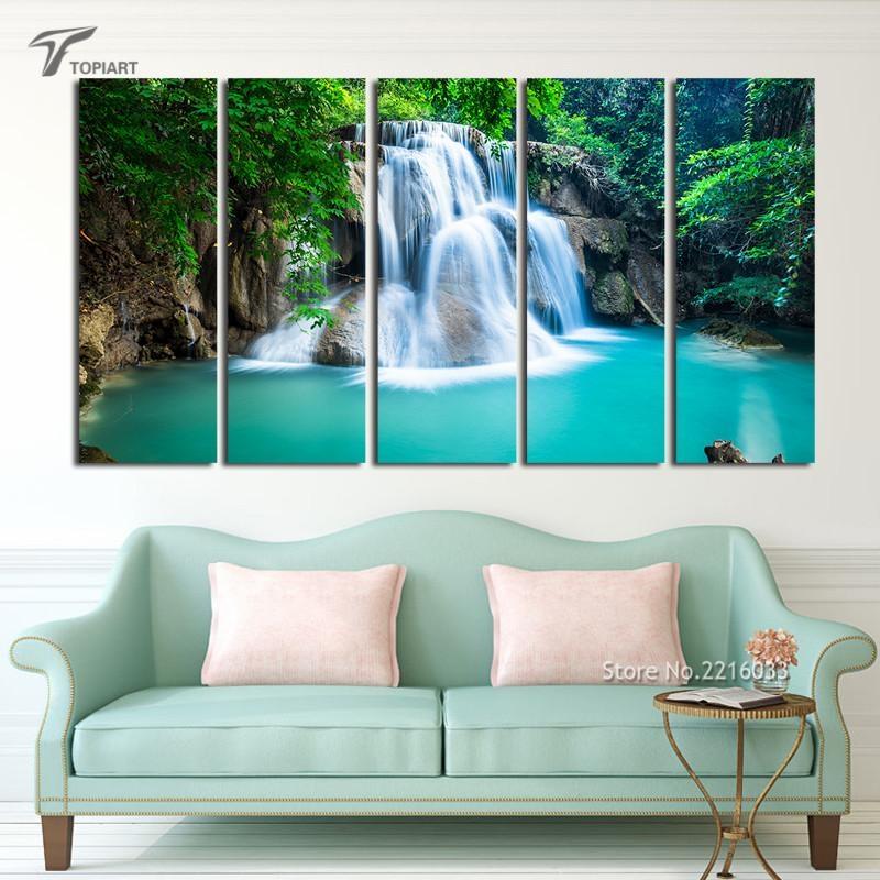 Online Get Cheap Waterfalls Wall Art Aliexpress | Alibaba Group Regarding Waterfall Wall Art (View 4 of 20)