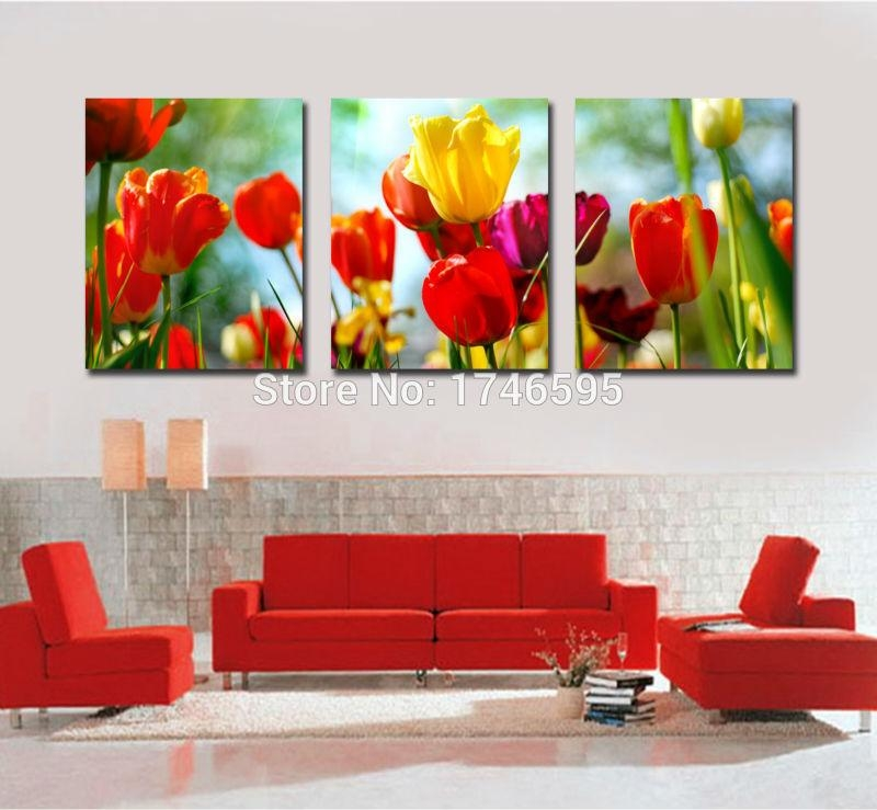 Online Get Cheap Yellow Canvas Wall Art  Aliexpress | Alibaba Regarding Red And Yellow Wall Art (Image 14 of 20)