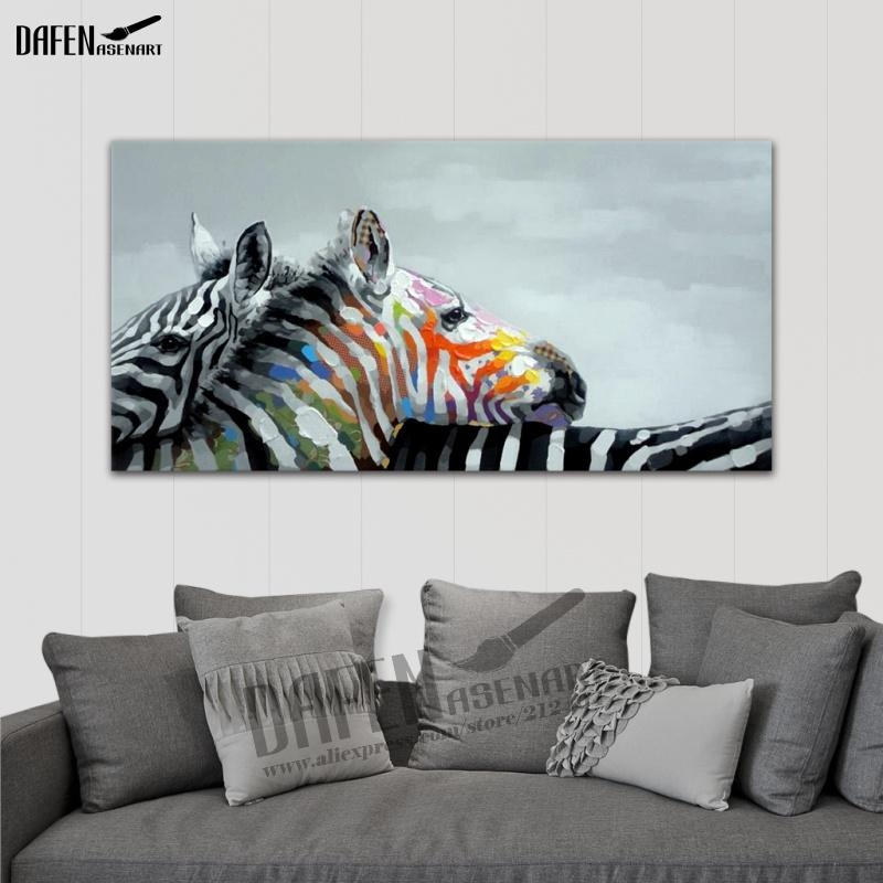 Online Get Cheap Zebra Wall Paint Aliexpress | Alibaba Group Throughout Zebra Wall Art Canvas (View 6 of 20)