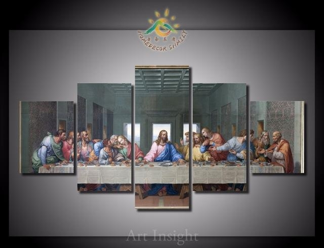 Online Shop 5 Pieces/set The Last Supper Wall Art Paintings Intended For The Last Supper Wall Art (Image 8 of 20)