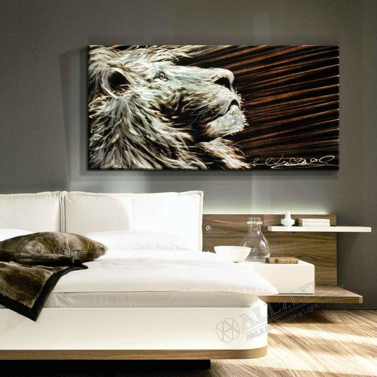 Online Shop Modern Metal Wall Art Sculpture Paintings New Original Inside Lion Wall Art (Image 16 of 20)